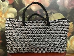 Metal Real Soda Beer Can Pull Tabs Purse Steam Punk Style Handmade 9x5 New