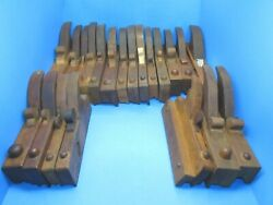 Interesting Set Of 21 Handled Wood Molding Planes Owner Made W/ Stanley 55 Irons