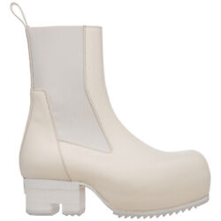 Rick Owens Ankle Boots Women Phlegethon Ro21s3824lpo11 Block Heel Leather Shoes