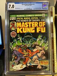 Special Marvel Edition 15 - Cgc 7.0 - 1st Shang-chi The Master Of Kung-fu