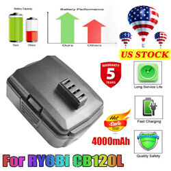Replace For Ridgid R840087 18 Volt Lithium R840085 R840086 High Capacity Battery