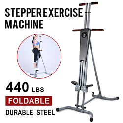 Maxi Climber Vertical Stepper Exercise Fitness Monitor And Manual Sealed Gym