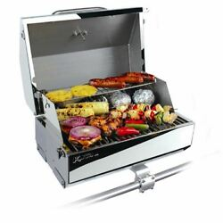Kuuma Elite 216 Elite Gas Grill - 216 Cooking Surface - Stainless Steel Boat Gr
