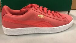 Suede Classic Porcelain Rose- White Women Size 9 Sneakers 361111 03