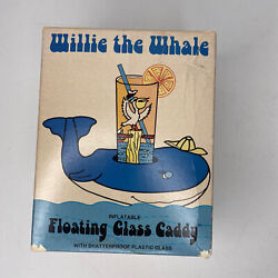 Willie The Whale Floating Glass Caddy H.j. Stotter Vintage