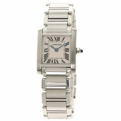 Free Shipping Pre-owned Tank Francaise Sm Watch Stainless Steel W51008q3