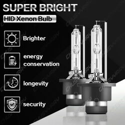 Front White 6000k Hid Headlight Bulbs For Nissan 350z 2003-05 Low Beam Set Qty 2