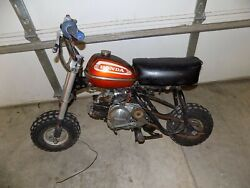 1971 Qa50 Honda Mini Bike Red Gas Tank 50 Seat Engine Wheels Bars Z Trail Bike