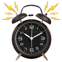 Vintage Clock Extra Loud Alarm Twin Bell Battery Analogy Backlight For Bedroom
