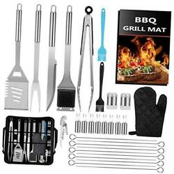 31pcs Bbq Grill Accessories Grilling Tools Set With Storage Bag Extra Thick