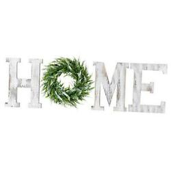 Home Letters with Wreath Farmhouse Decor for The Home Clearance Wood White