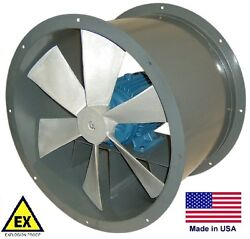 Tube Axial Duct Fan - Explosion Proof - Direct Drive - 24 - 115/230v 6,510 Cfm