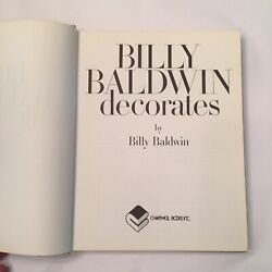 Billy Baldwin Decorates A Book Of Practical Decorating Ideas 1972