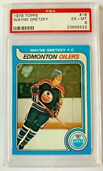 1979 Topps Wayne Gretzky Rookie Rc Psa 6 Ex-mt The Great One
