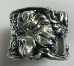 Beautiful Whiting Florence Sterling Silver Napkin Ring L@@k
