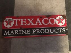 Antique Style-porcelain Look Texaco Star Marine Products Dealer Sales Large Sign