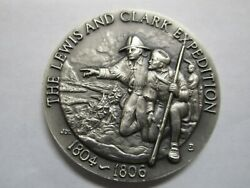 STERLING SILVER LEWIS AND CLARK EXPEDITION 1804 1806 Round Coin Commemorative $49.95