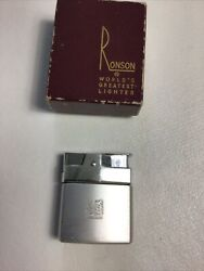 Vintage Collectible Ronson Mini-rover Cigarette Lighter Hong Kong With Box