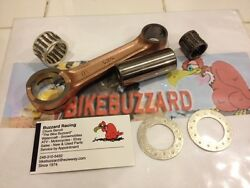 Early Yamaha Mx250 Dt1 250 125mm Long Connecting Rod Kit W 24mm Crank Pin New