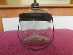 Antique Prefection Stove Company Gravity Feed Oil Bottle Pat 1919-excellent Cond
