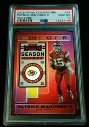 Psa 10 Patrick Mahomes Ii Red Zone 20 Or Less Made Pop 7 2018 Contenders 39