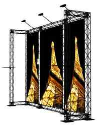Crosswire Exhibits 10x10 Booth Display Trade Show Pop-up Banner Stand X-module