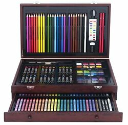 142pc Art101 Deluxe Set Complete Convenient Sturdy Wood Protected Organized Case