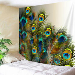 Peacock Tail Feathers Tapestry for Bedroom Living Room Dorm Decor