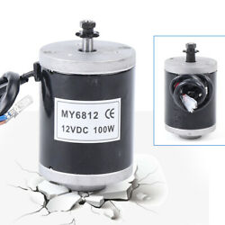 Dc 12v 100w High Speed Small Brush Motor Electric Motor For E-bike Scooter Usa