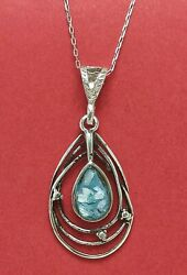Vintage Ancient Roman Glass 925 Sterling Silver Necklace Israel Handmade Jewelry