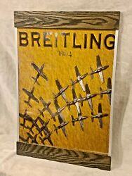 """Breitling Pop Art Store Display Wall Picture Print 16.5"""" W X 24"""" T Awesome"""