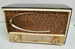 Vintage Zenith 7c02 Tube Radio Chassis Am/fm Tabletop Brown For Parts