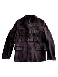 Prorsum Fall 2014 Us 36 Brown Fringe Suede Jacket