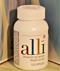 Alli Weight Loss Caps 60 Mg. 120 Ct. Otc Factory Sealed Exp.in March 2022