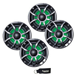 Wet Sounds Revo 6-xsb-ss Black Xs Stainless Overlay Grill 6.5 Led Speakers