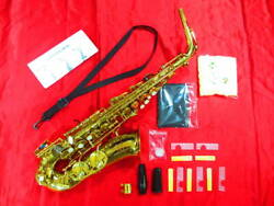 Maxtone Gold Color And03990s Alto Saxophone With Hard Case Shipped From Japan