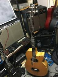 Rare Athlete Ax-4 Acoustic Bass Guitar With Case Shipped From Japan