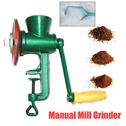 Household Cast Iron Grain Mill Grinder Hand Manual Oats Corn Wheat Nuts Us