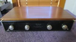 Near Perfect Mcintosh Mq-101 Equalizer With Beautiful Wood Case And Service Manual