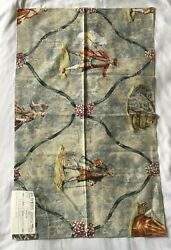 Travers Magdalena Fabric Sample Blue Victorian Cotton England 26 X 16