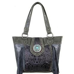 Trinity Ranch Concealed Carry Purse Fringe Leather Western Country Handbag