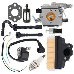 Carburetor Ignition Coil Air Filter Kit Fit Stihl Ms210 Ms230 Ms250 025