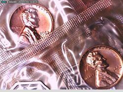 1 Roll Of 50 1962 Proof Lincoln Memorial Cents In Mint Cello Video 000003