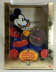 Mickey Mouse Drummer 60th Anniversary 1997 Fisher Price Mattel Repro Series Nrfb