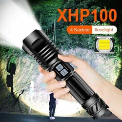 Xhp100 Led Flashlight Long Range Torch Rechargeable Hand Lamp Bicycle Lanterns