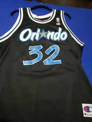 Shaquille Oand039neal Rc Orlando Magic Throwback Jersey 90and039s Champion Ultra Rare Nba