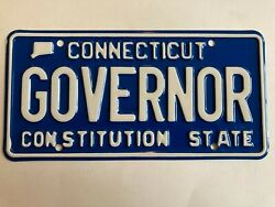 1980s 1990s Connecticut Governor License Plate Political Original See Photos