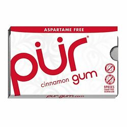 Pur 100 Xylitol Chewing Gum Cinnamon 9 Pieces Per Pack Tray Of 12...