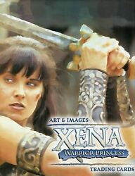 Xena Art And Images Collector Card Album With Alison Wall Autograph Card A54