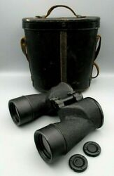 Us Navy 1943 Anchor Optical 7 X 50 Mk 32 Mod 0 Binoculars Case And Density Filters